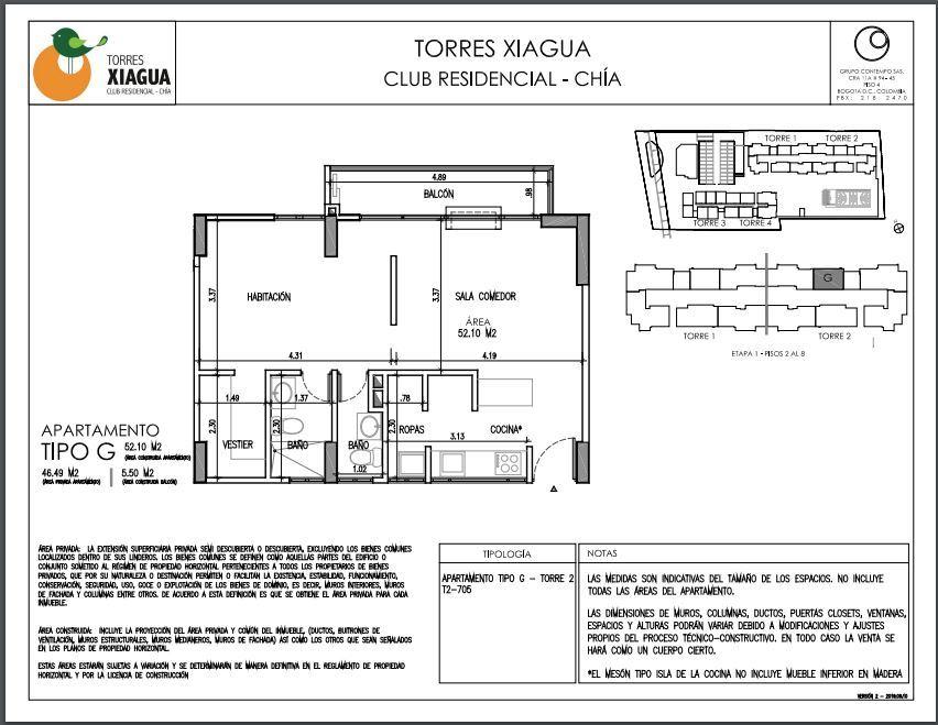 Apartamento en Chía 9085, foto 1