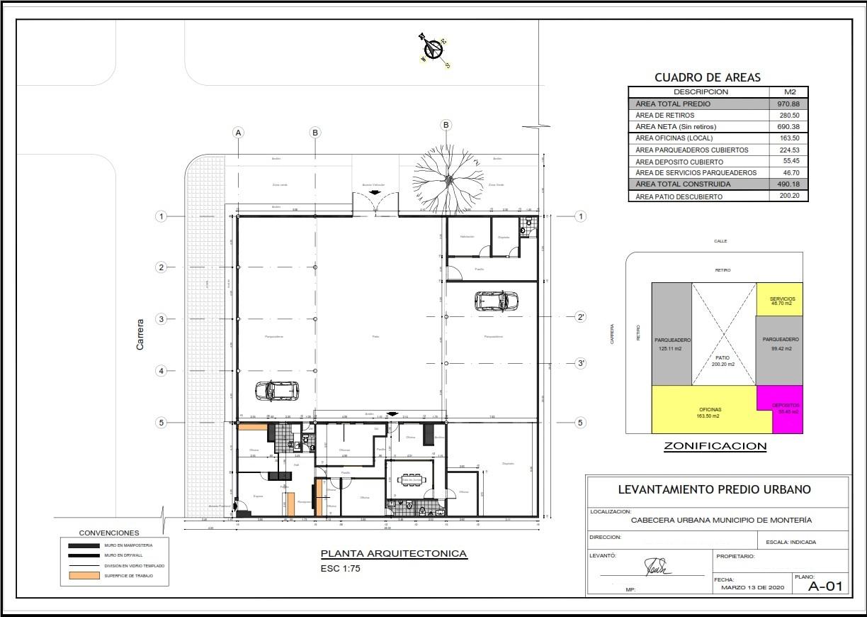 100727 - Lote de terreno con Local Comercial y oficinas (Centro)